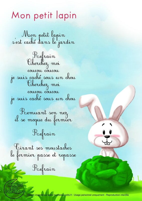 comptine-paroles-lapin