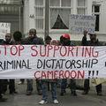 Manifestations au Consulat de France à Hambourg, le 28 mars 2008