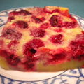 Clafoutis  la framboise 