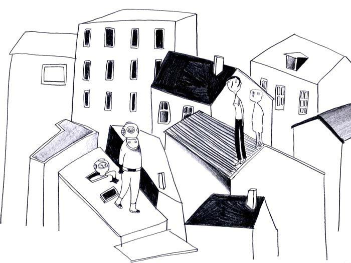 balade sur les toits
