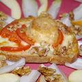 tartines gourmandes au chèvre et aux noix ....