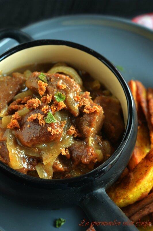 recette seitan - carbonnade flamande - potatoes au four aux 4 épices 1