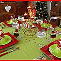 table de Noël rouge et anis 22