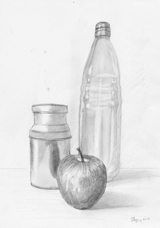 Dessin facile nature morte - Dessin de nature ...