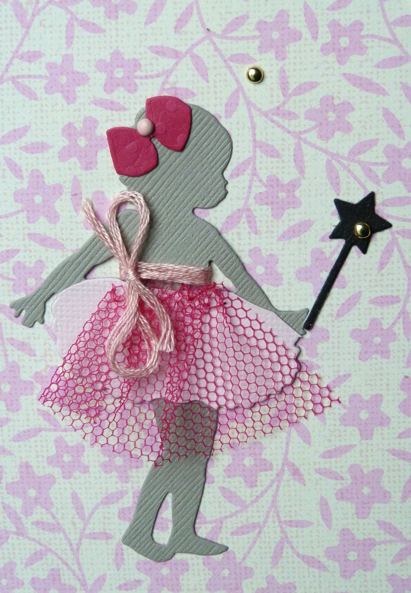 Carte d 39 anniversaire fille avec f e jupon en tulle et envol e dor e l2mg la boutique - Carte anniversaire petite fille ...