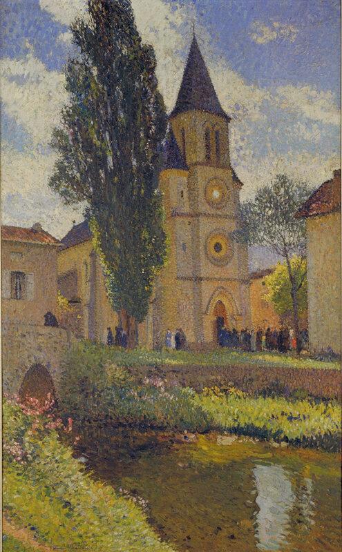 Henri_Martin_-_L'Eglise_de_Labastide-du-Vert_-_Musée_des_Augustins_-_RO_1074