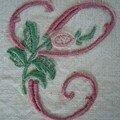 C de l'alphabet à la rose (petit modèle)