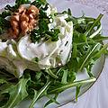 Salade de concombre au boursin et noix