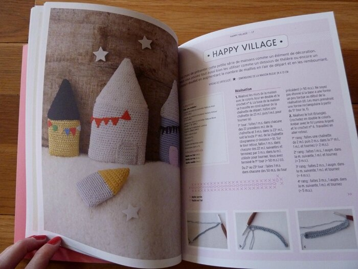 45 Livre Tendre crochet Happy Village