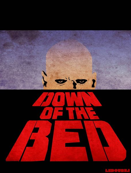 down of the bed