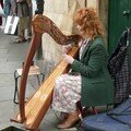 Joueuse de Harpe Celtique, Dublin city center