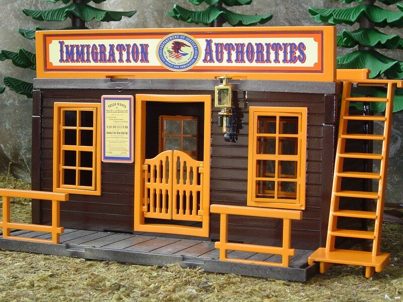 le bureau d 39 immigration immigration authorities playmobil tuning western en construction. Black Bedroom Furniture Sets. Home Design Ideas