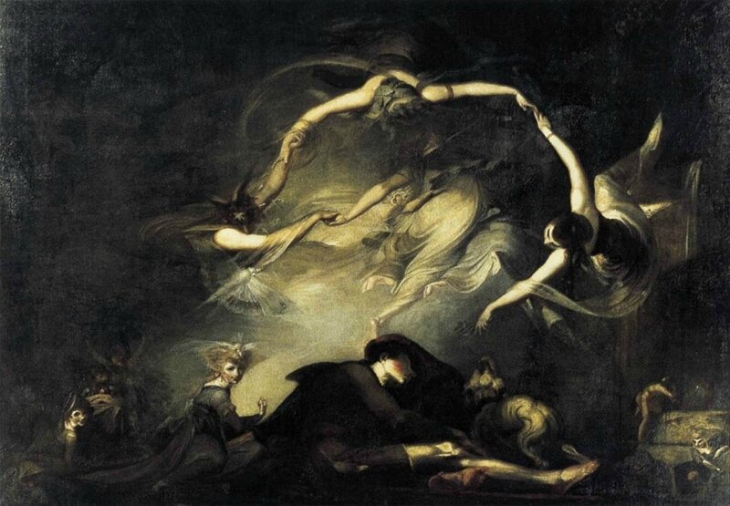 Johann Heinrich Füssli - The Shepherd's Dream 1793