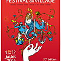 Affiche officielle du festival au village 2014 (26e édition)