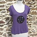 T-shirt violet/ Purplely