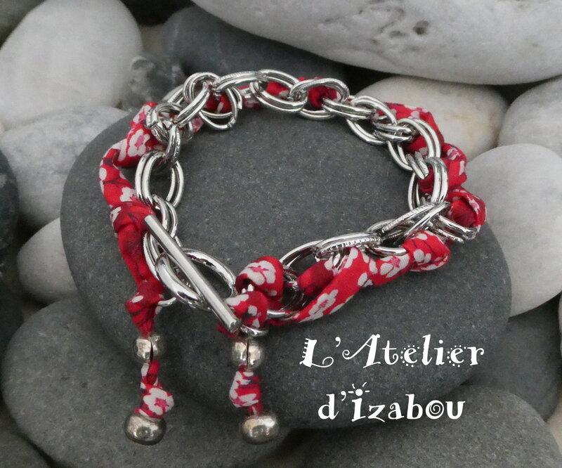 P1020693_Bracelet_chaine_et_liberty_rouge__fermoir_toggle_rond