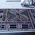 Restauration vitrail la Jonchère Saint Maurice