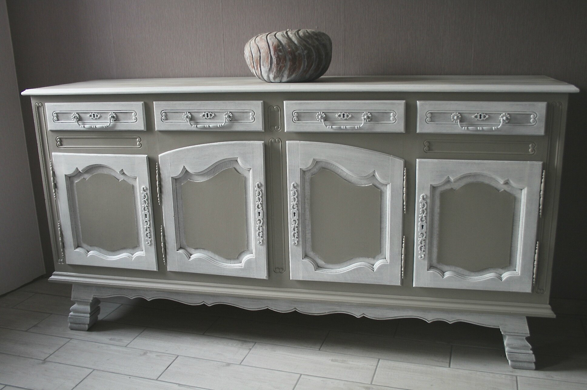 Grand Meuble Buffet Bahut Commode En Ch Ne Massif Stylis E Patine Blog De Missantic Pour