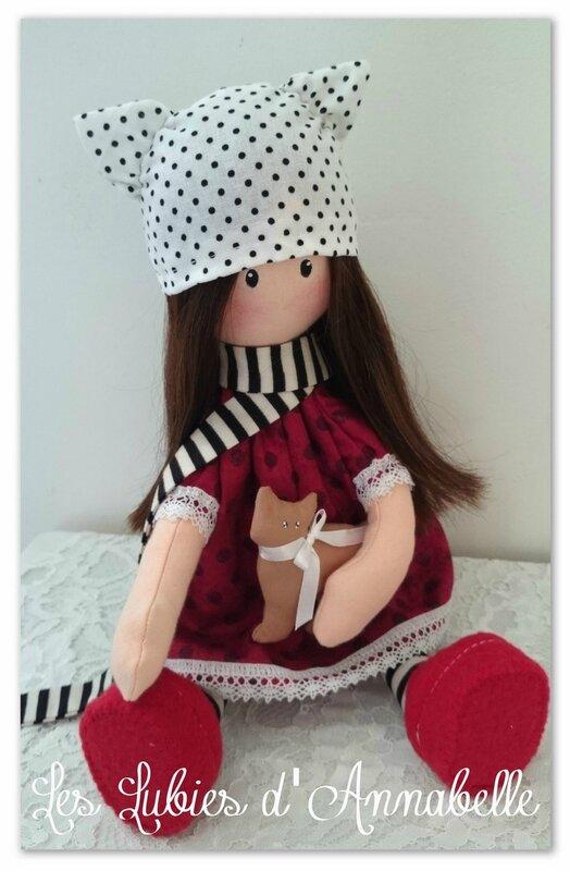 poupée Gorjuss style shabby