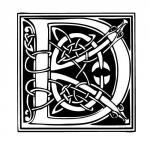 lettre typo celtique D