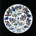 Dish, iznik, turkey, ca. 1550-1555