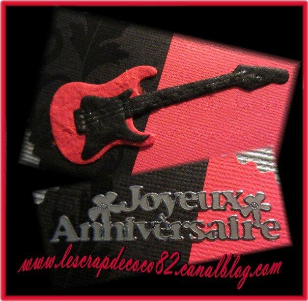 carte guitare  u00e9lectrique  u0026quot joyeux anniversaire u0026quot