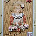 Scrapbooking : carte d'anniversaire