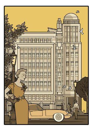 Delius dessinateur dessin bistre Antoine COURTENS Palais folle chanson BRUXELLES