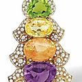 a multi-gem and diamond clip brooch, by bulgari