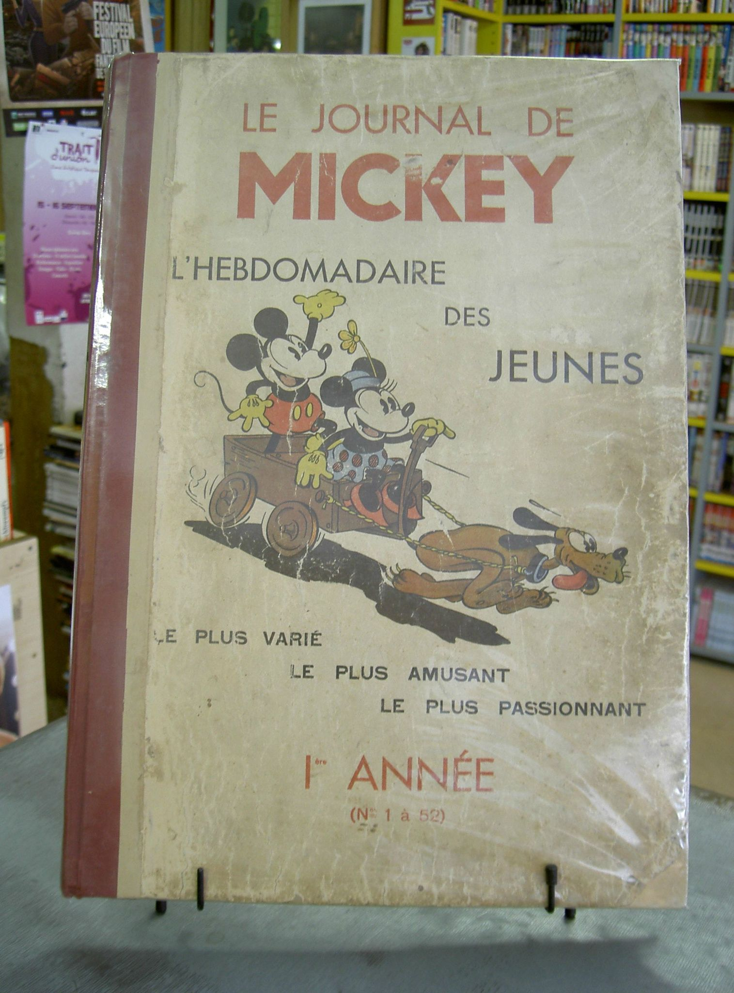 le journal de mickey l 39 hebdomadaire des jeunes 1ere ann e 1934 dispo en magasin librairie. Black Bedroom Furniture Sets. Home Design Ideas