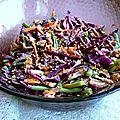 Salade composée colorée aux de noix de pécan