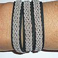 Bracelet 'Esprit du Nord' noir