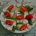 Brochettes apéritives - brebis a l'italienne