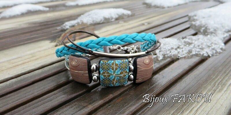bracelet bois et kaleîloscope