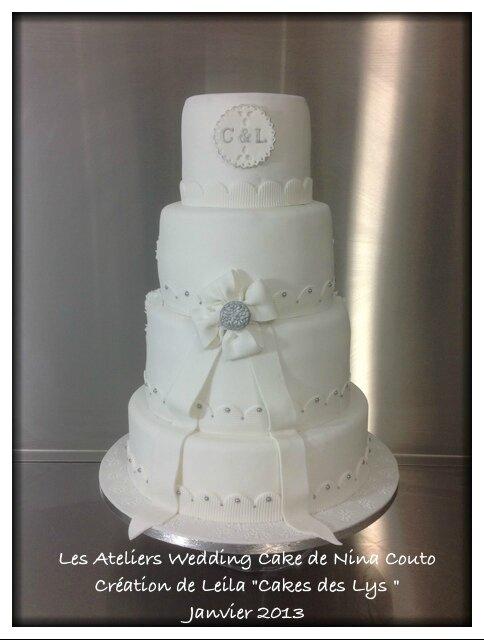 atelier wedding cake Nina Couto eleve Leila 2