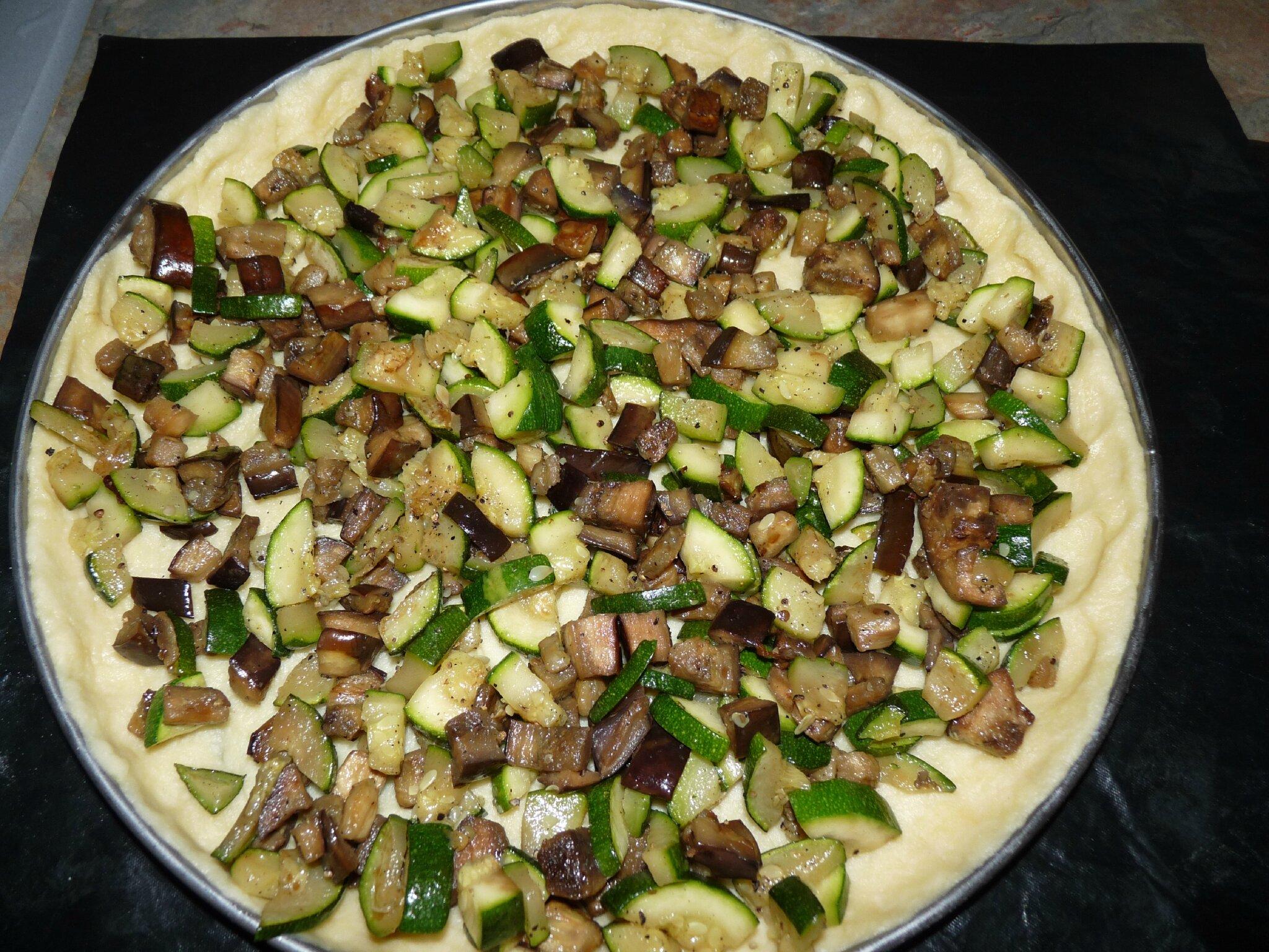 Tarte courgettes, aubergines et féta