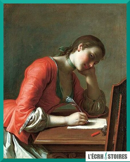 Girl Writing a Love Letter 1755