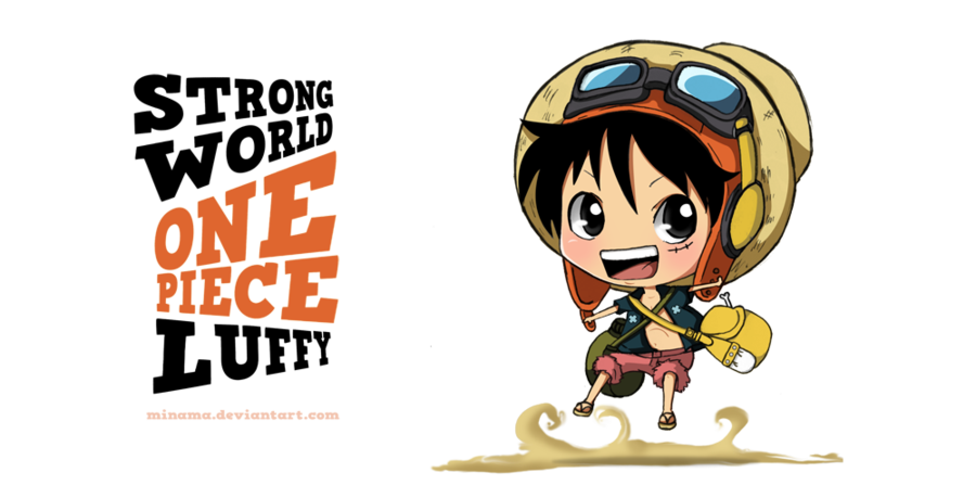 Chibi-Luffy-one... One Piece Chibi Luffy And Ace
