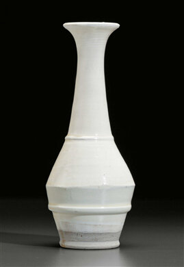 A Cizhou-type white bottle vase, China, possibly Yuan-Ming Dynasty