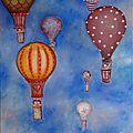 nuée de montgolfières