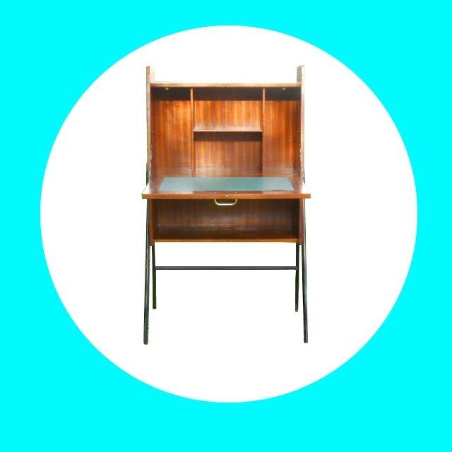 secretaire vintage design des annees 50 /60 vendu - meubles et ... - Meuble Secretaire Design