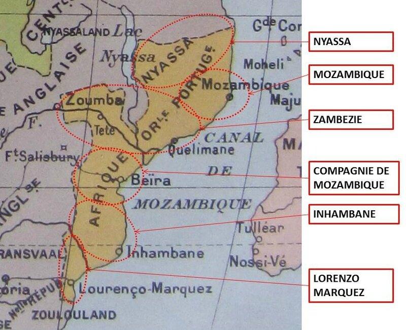 Afrique Orientale Portuguaise Carte