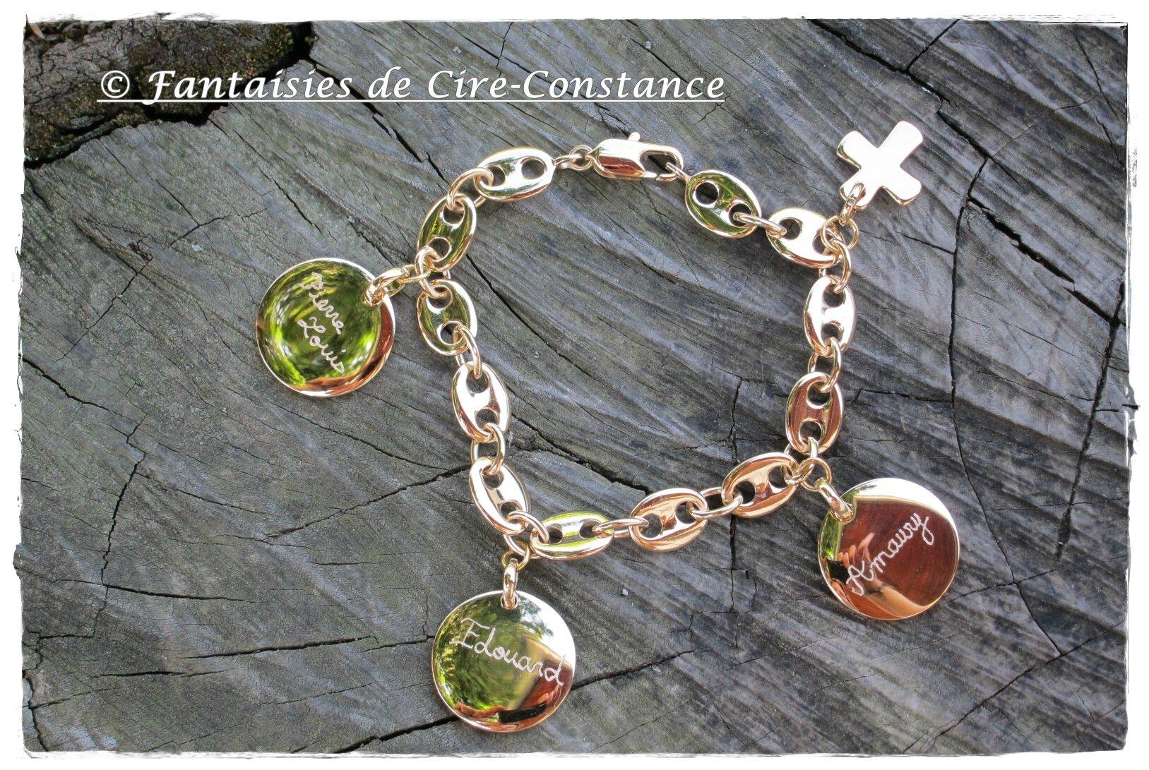 trio de bracelets en argent massif et plaqué or !!!!