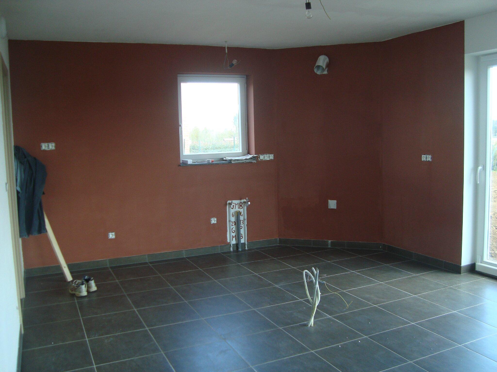 De la couleur la maison de lilie et greg - 2eme couche de peinture sans trace ...