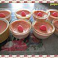 Petits pots de crèmes aux fraises tagada