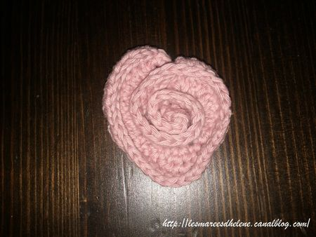 Coeur de rose Crochet tuto