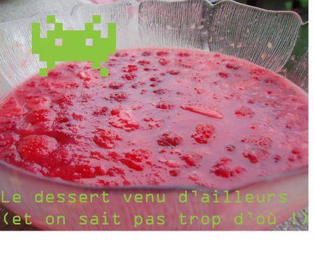 dessert gelée framboise