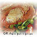 Selle d'agneau farcie au foie gras et truffe, une petite merveille!