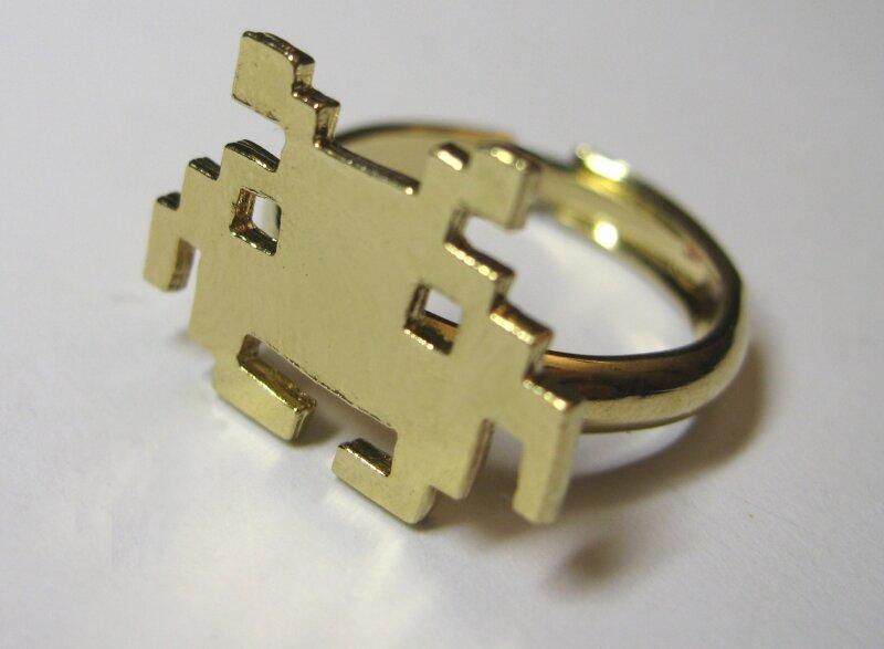 bague petit space anneau rond or