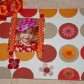 cadre carton et papier facon scrapbooking ....